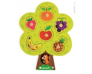 Układanka drewniana drzewo owocowe janod