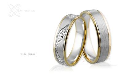 Obrączki ślubne - wzór au-898