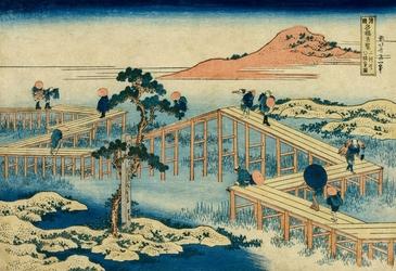 An Ancient Picture of the Eight Part Bridge in Mikawa Province Wymiar do wyboru: 59,4x42 cm