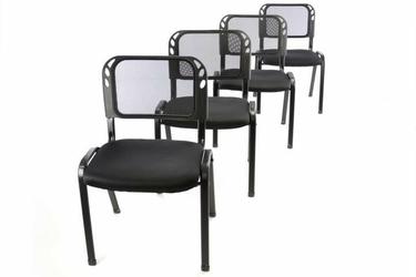 Krzesła konferencyjne czarne, 4 sztuki