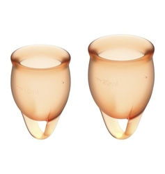 Kubeczki mestruacyjne feel confident menstrual cup set pomarańczowy | 100 oryginał| dyskretna przesyłka