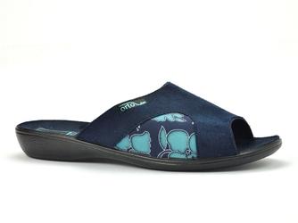 Pantofle  adanex 24879 granatowe