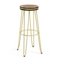 Hoker  stołek barowy farley - złoty