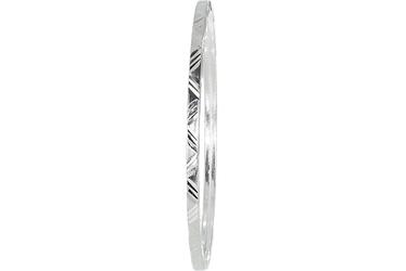 Diamentowana srebrna bransoletka bangle
