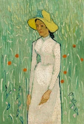 Girl in white, vincent van gogh - plakat wymiar do wyboru: 70x100 cm
