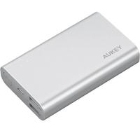 Aukey pb-at10 grey ultraszybki aluminiowy power bank | 10050 mah | 3xusb | 5.4a | quick charge 3.0 | kabel micro usb