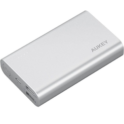 Aukey pb-at10 grey ultraszybki aluminiowy power bank | 10050 mah | 3xusb | 5.4a | quick charge 3.0 | kabel micro usb