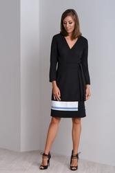 Klasyczna czarna sukienka wizytowa cala