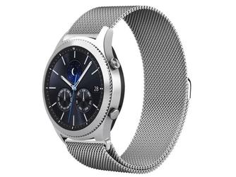 Bransoleta milanese pasek stalowy do samsung gear s3  watch 46mm srebrny - srebrny