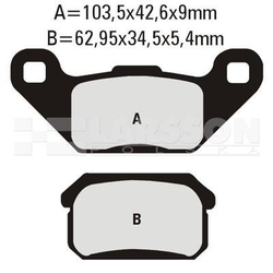 Klocki hamulcowe ebc 2 szt. fa431tt 4101506 adlyherchee crossover