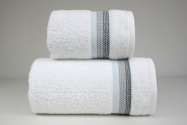 Ombre biały ręcznik bawełniny frotex