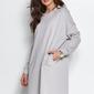 Dresowa sukienka z asymetrycznym dołem - szara