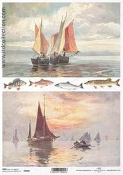 Papier ryżowy ITD A4 R1040 ryby żaglówki