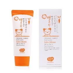 Whamisa marchewkowy krem ochronny dla dzieci organic carrot baby  kids sun cream spf14pa++
