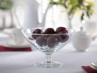 Patera na owoce  owocarka na nóżce szklana edwanex 23 cm