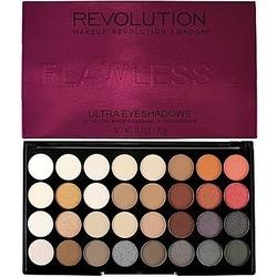 Makeup revolution 32 ultra eyeshadows flawless 2, cienie matowe, satynowe i z drobinkami