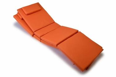 Poduszki na leżak ogrodowy, pomarańczowe