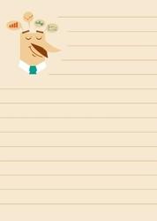 Tablica suchościeralna notatnik 029