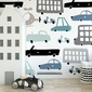 Tapeta dziecięca - vehicle design , rodzaj - tapeta flizelinowa laminowana