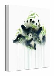 Pandas Bamboo - obraz na płótnie