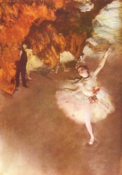 Reprodukcja ballet - letoile, edgar degas