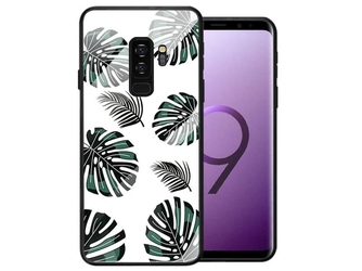 Etui alogy glass armor case do samsung galaxy s9 plus liście - liście