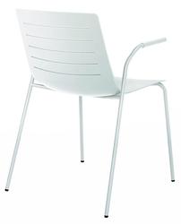 Krzesło skin 4 białe podstawa biała - biały