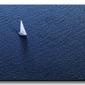 Lonely yacht, the top view - obraz na płótnie
