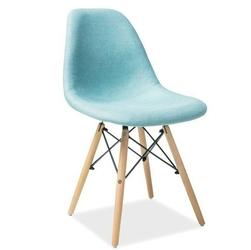 Krzesło tapicerowane celine miętowe