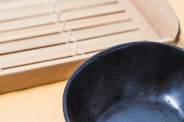 Miska 16 x 14.5 cm czarny marmurek