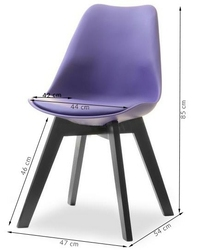Krzesło do jadalni gustaf fioletoweczarne