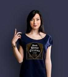 Book honor ojczyzna ml t-shirt damski granatowy l