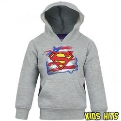 Bluza z kapturem superman szara 3 lata
