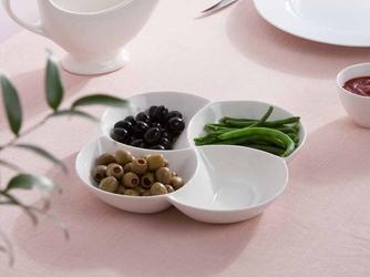 Dipówki  naczynie do dipów i przekąsek 4-dzielne porcelana altom design regular 21,5 cm