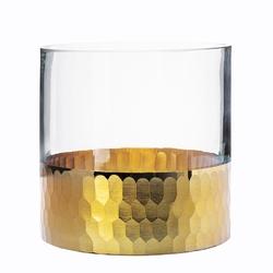 Świecznik szklany  wazon altom design golden honey 12 cm