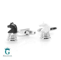 Spinki do mankietów szachy skoczek x2 psn254
