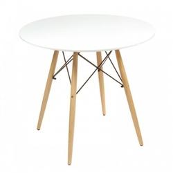 Nowoczesny okrągły stół 60cm stolik eiffel biały