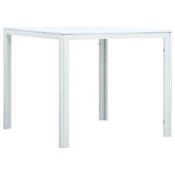 Vidaxl stolik kawowy, biały, 78x78x74 cm, hdpe o wyglądzie drewna
