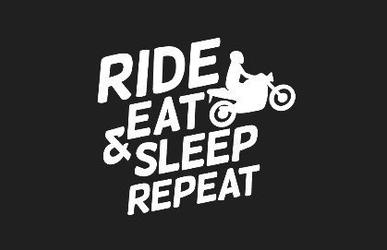 Rebelhorn odznaka na rzep ride eat sleep repeat bl
