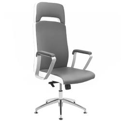 Fotel kosmetyczny rico a1501-1 do pedicure i makijażu szaro-biały