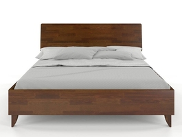 Łóżko drewniane sosnowe visby viveca  kolor orzech