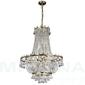 Versailles lampa wisząca 9 złoty kryształ