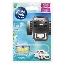 Ambi pur car, aqua, odświeżacz powietrza do samochodu,  urządzenie + wkład, 7ml