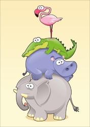 Plakat dla dzieci zwierzątka p026