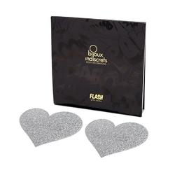 Naklejki na sutki - bijoux indiscrets flash  - srebrne serce