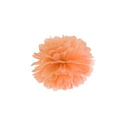 Pompon bibułowy 25 cm - pomarańczowy - pom