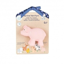 Tikiri - gryzak zabawka świnka farma z opakowaniem