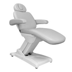 Fotel kosmetyczny elektr. azzurro 875b 3 siln. szary