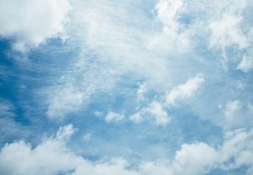 Obłoki na niebie - fototapeta