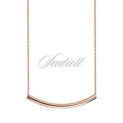 Srebrny naszyjnik pr.925 z pozłacaną rurką - różowe złoto - różowe złoto